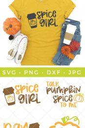 pumpkin spice svg bundle pin image