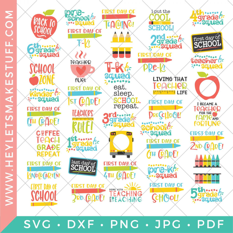 school SVG bundle - 41 school SVG files