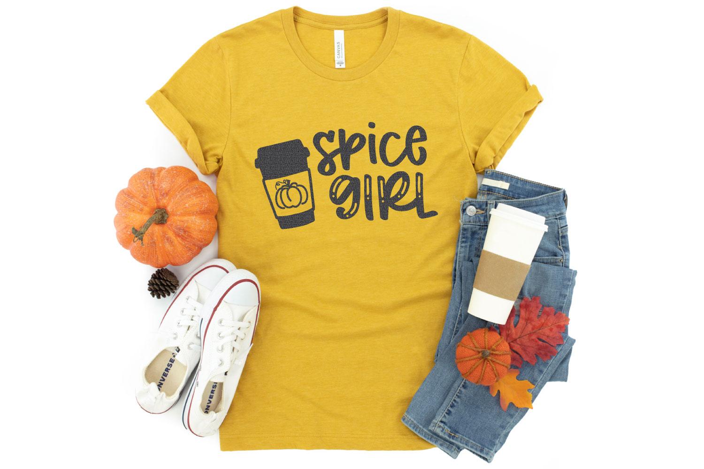 pumpkin spice SVG file on mockup shirt
