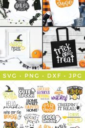 Pin image for this Halloween SVG bundle