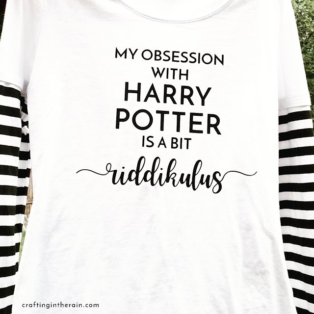 Harry Potter shirt with Cricut