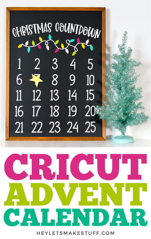 Cricut Christmas Countdown Calendar pin image