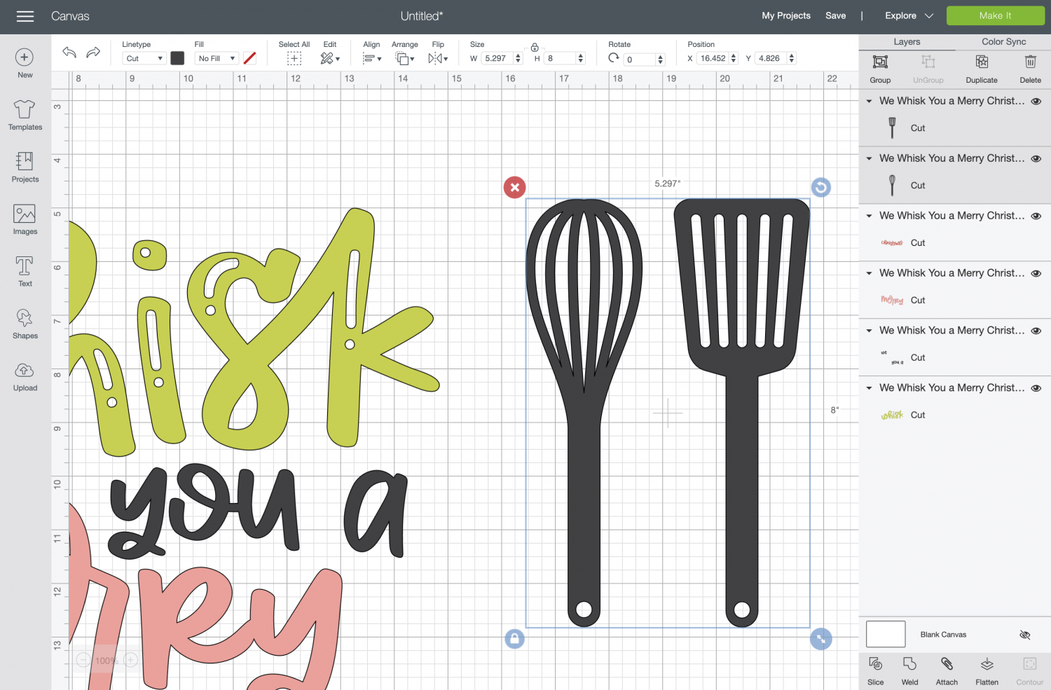 Resize the whisk file.