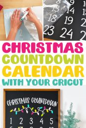 Christmas Countdown Calendar with your Cricut pin image