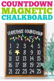 Christmas Countdown Magnetic Chalkboard pin image