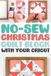 Christmas Paper Quilt Block Pin