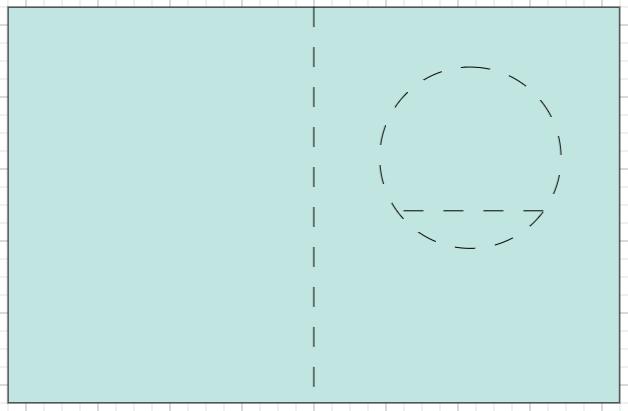 Cricut Design Space: Showing where the score lines will go.