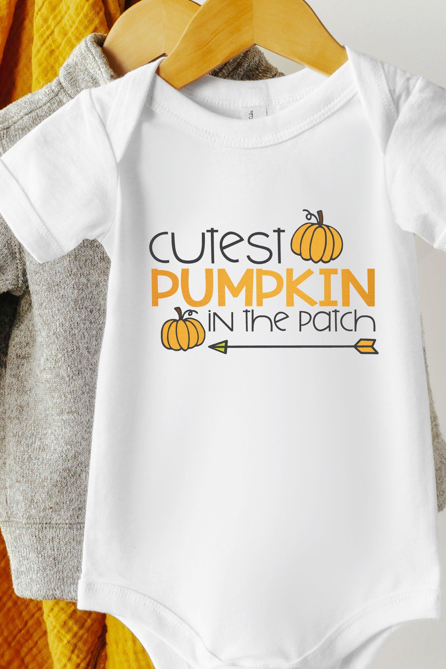 pumpkin patch SVG file on baby onesie