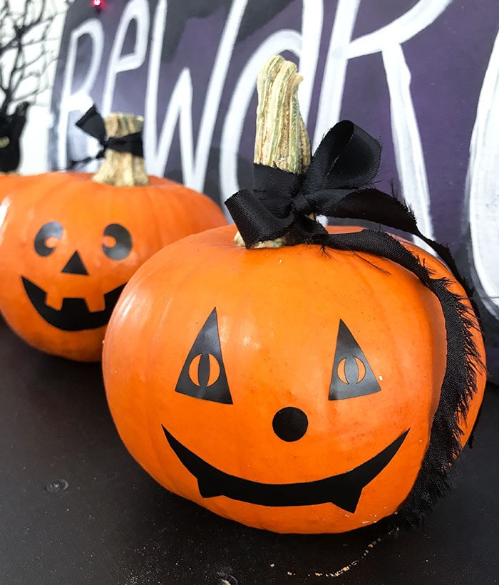 DIY Cricut Pumpkin Faces