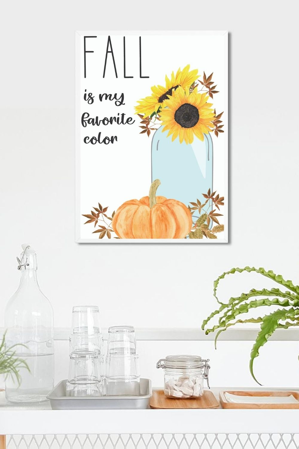 fall printables watercolor