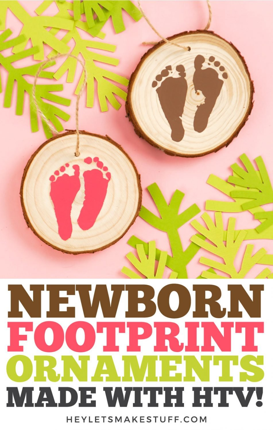 Newborn Footprint Ornaments pin image