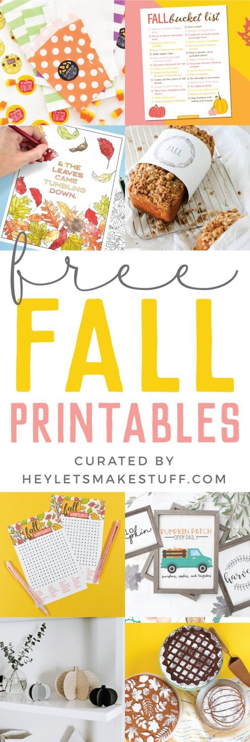 free fall printables pin image