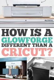 How is a Glowforge Different from a Cricut pin image