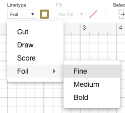 Change the linetype in Cricut Design Space