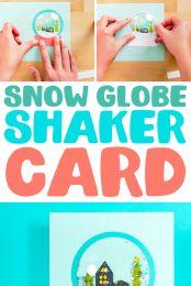 Snow globe shaker card pin image