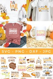 The Ultimate Fall and Thanksgiving SVG Bundle pin image