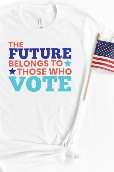 voting SVG on shirt