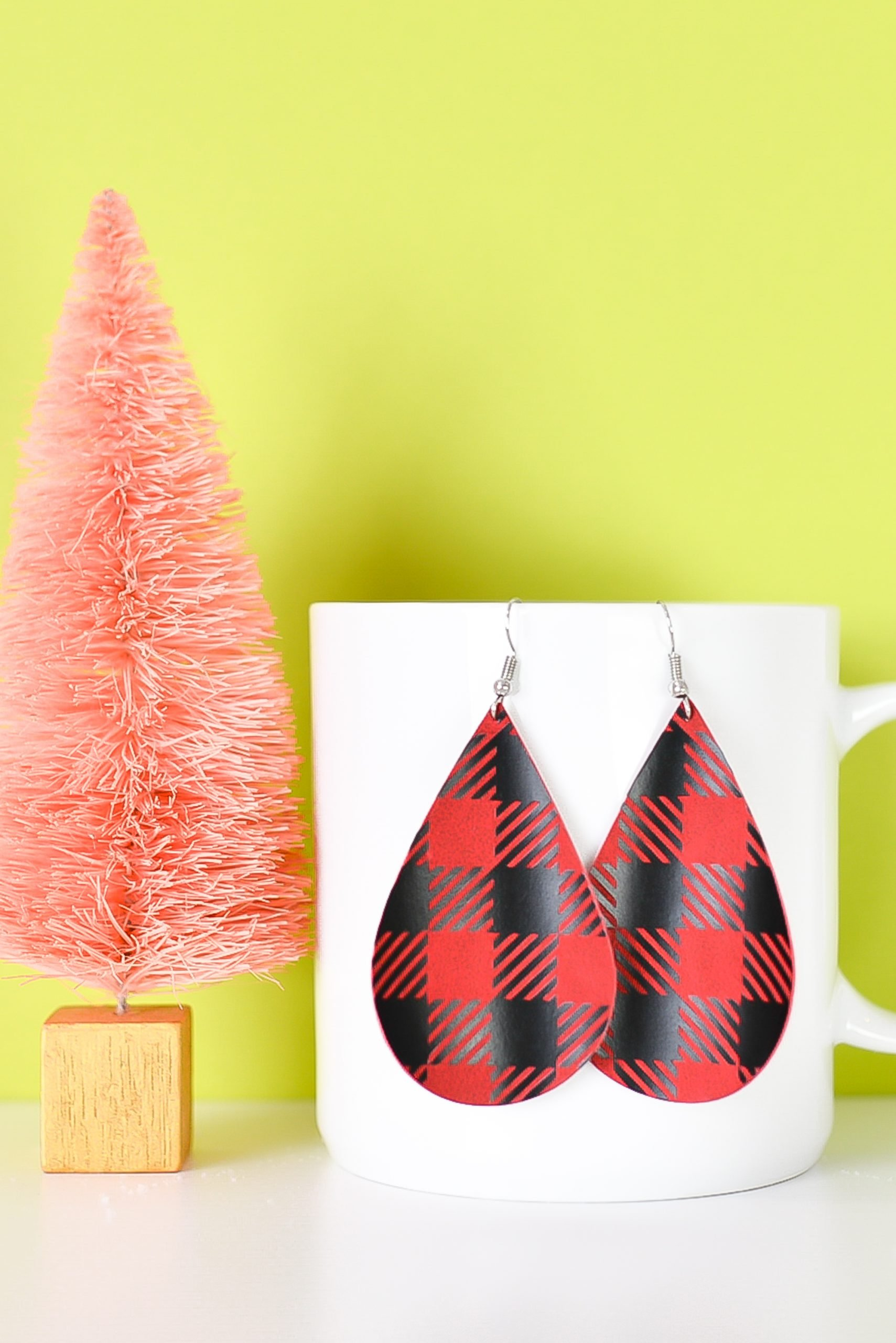 Final buffalo plaid earrings