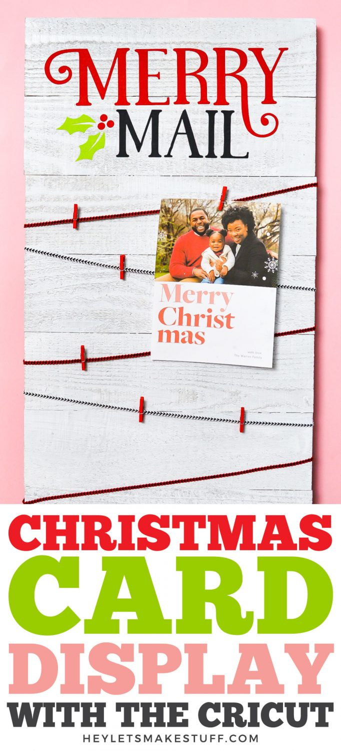 DIY Christmas Card Display Board pin image