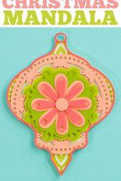 Christmas mandala pin image
