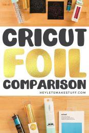Cricut Foil Comparison Pin Image