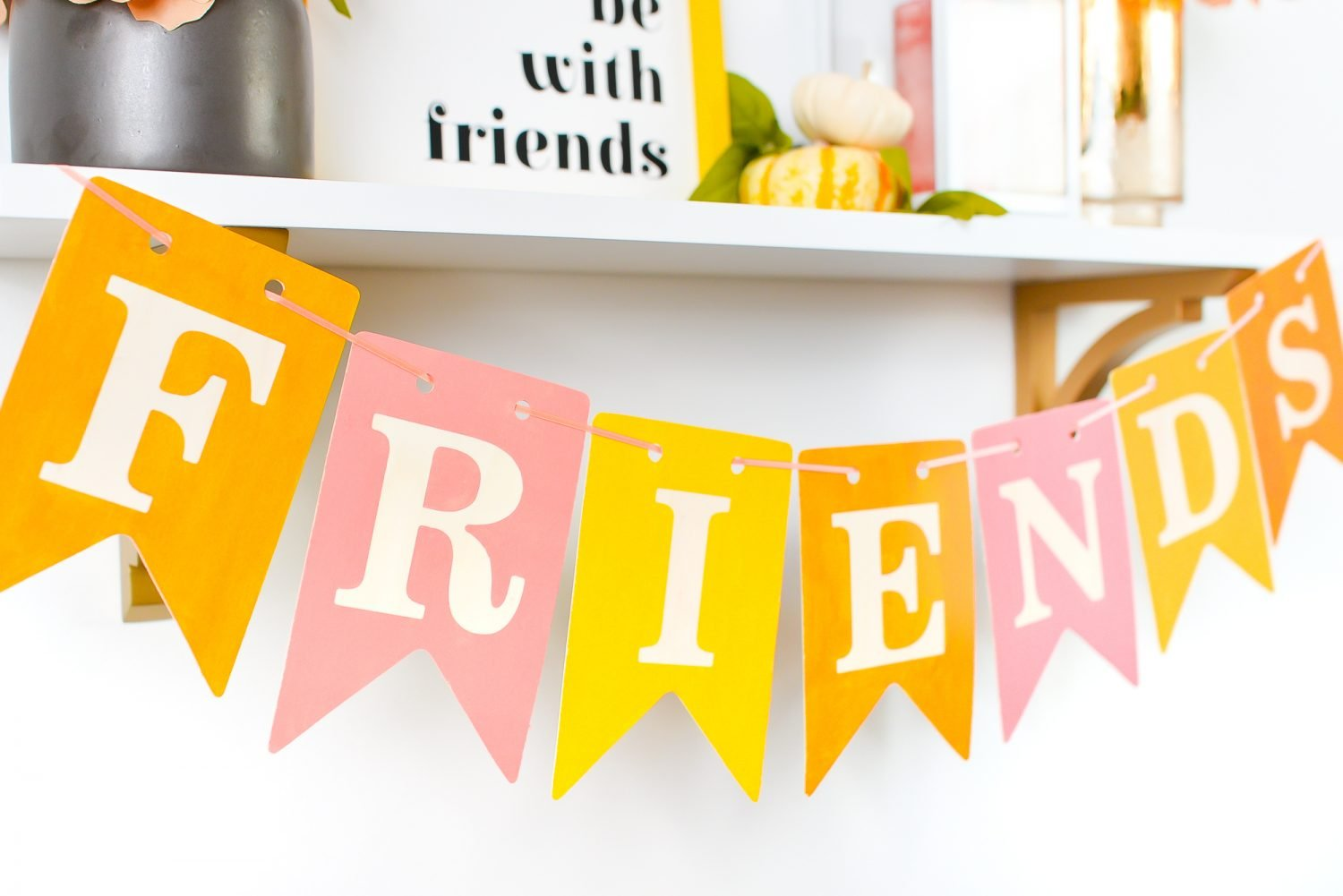 Closeup of FRIENDS banner
