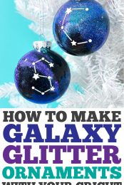 How to Make Constellation Glitter Ornaments pin image