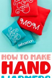 DIY Hand Warmers with the Cricut Pin Image