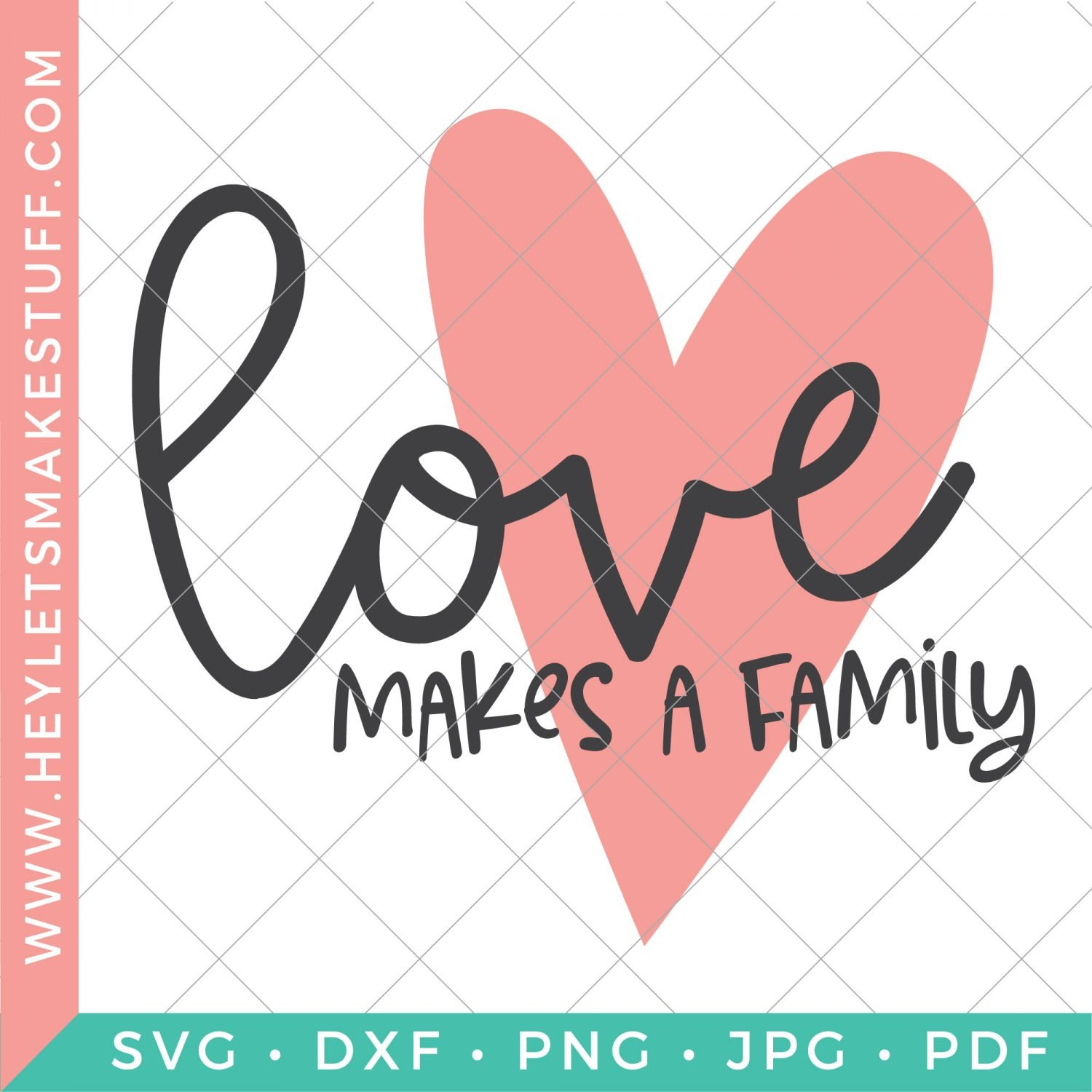 Love Makes a Family SVG on security template