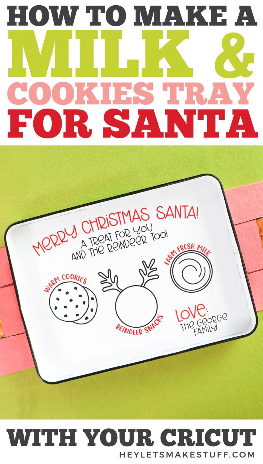 How to Make a Milk and Cookies Tray for Santa pin image