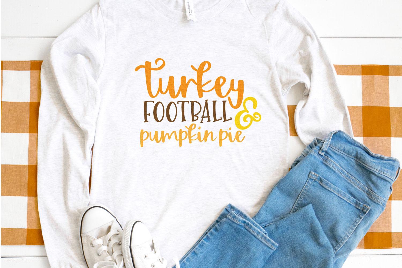 Unique Baby Boys Turkey Football and Pumpkin Pie Raglan Shirt