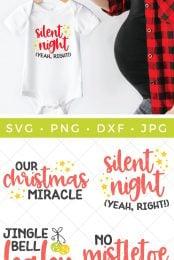 christmas baby SVG pin image