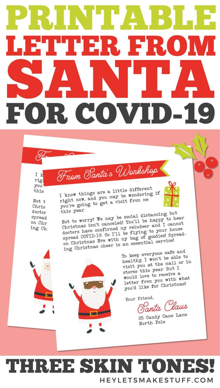 Printable Santa Letter Pin Image