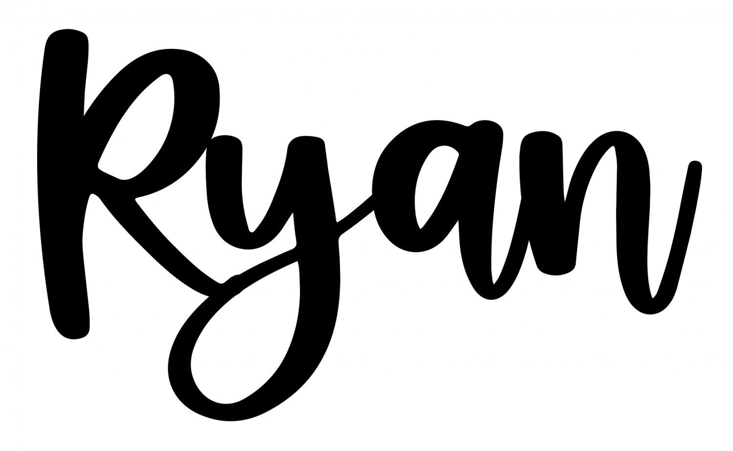 """Closeup of """"R"""" in Ryan moved over and overlapping the """"y."""""""