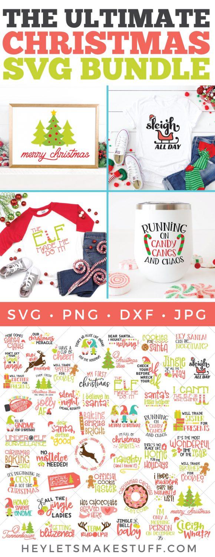 The Ultimate Christmas SVG Bundle pin image