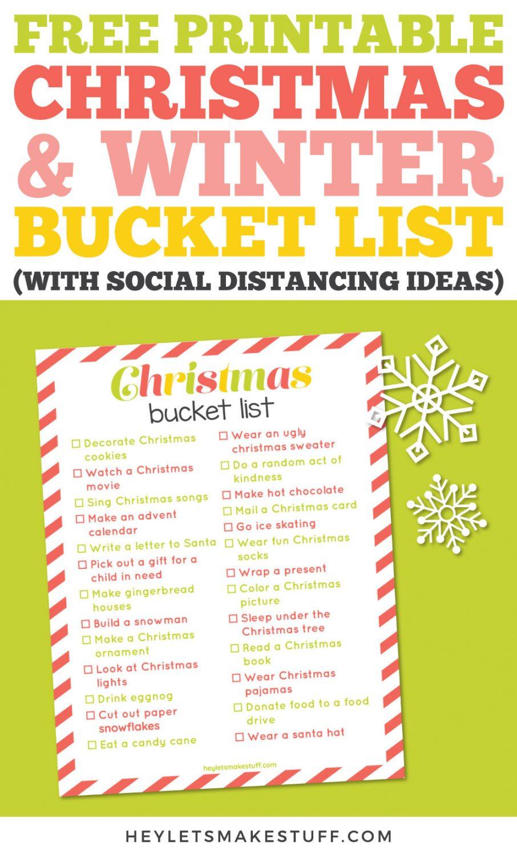 Christmas bucket list pin image