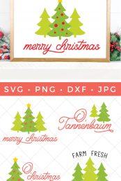 christmas tree svg pin