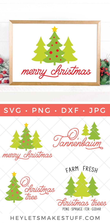 merry christmas tree SVG bundle