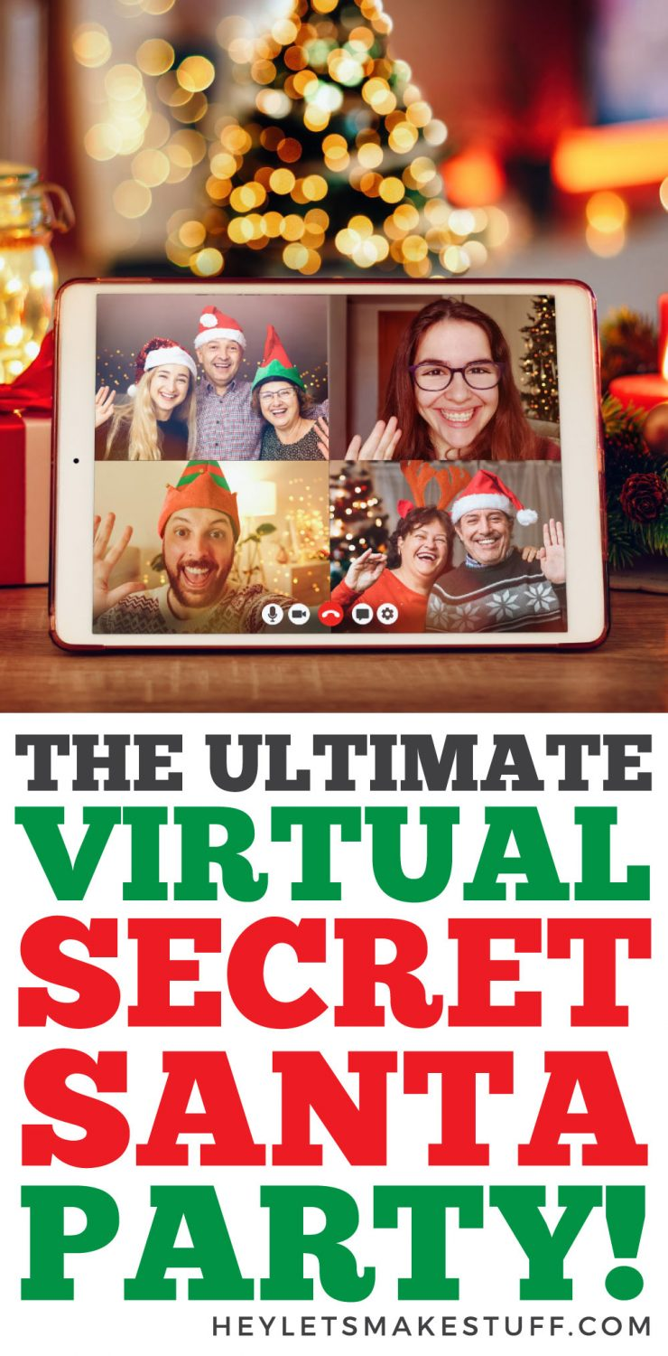 How to Host the Ultimate Virtual Secret Santa Party pin image
