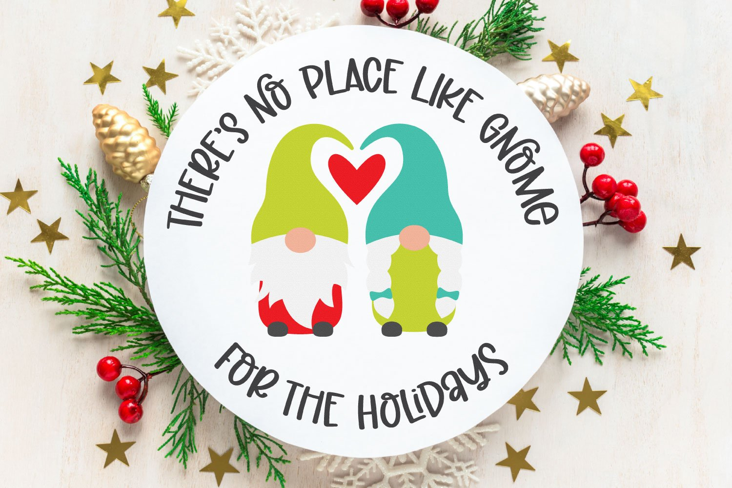 No place like gnome for the holidays SVG
