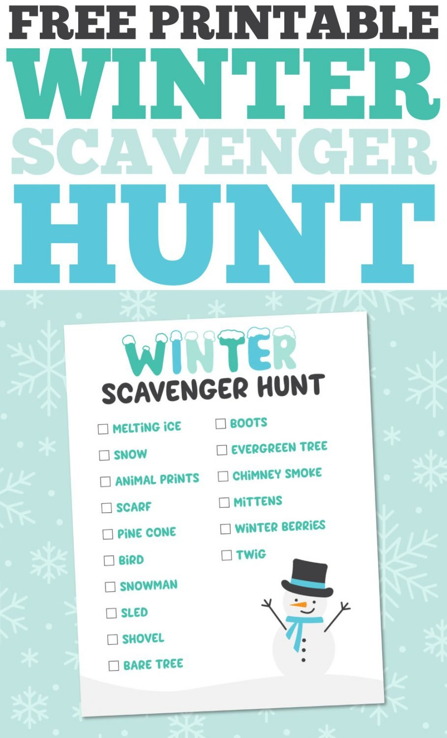 Winter Scavenger Hunt pin image