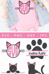 Cat monogram bundle pin image