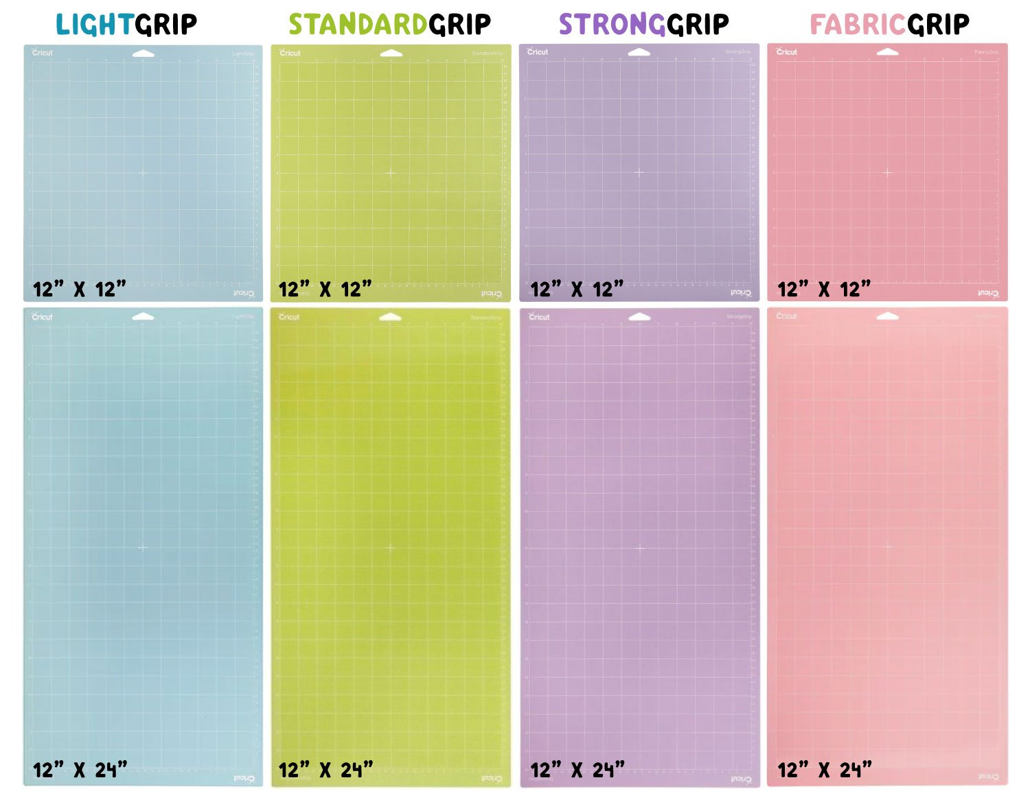 Cricut Explore and Maker mats with sizes