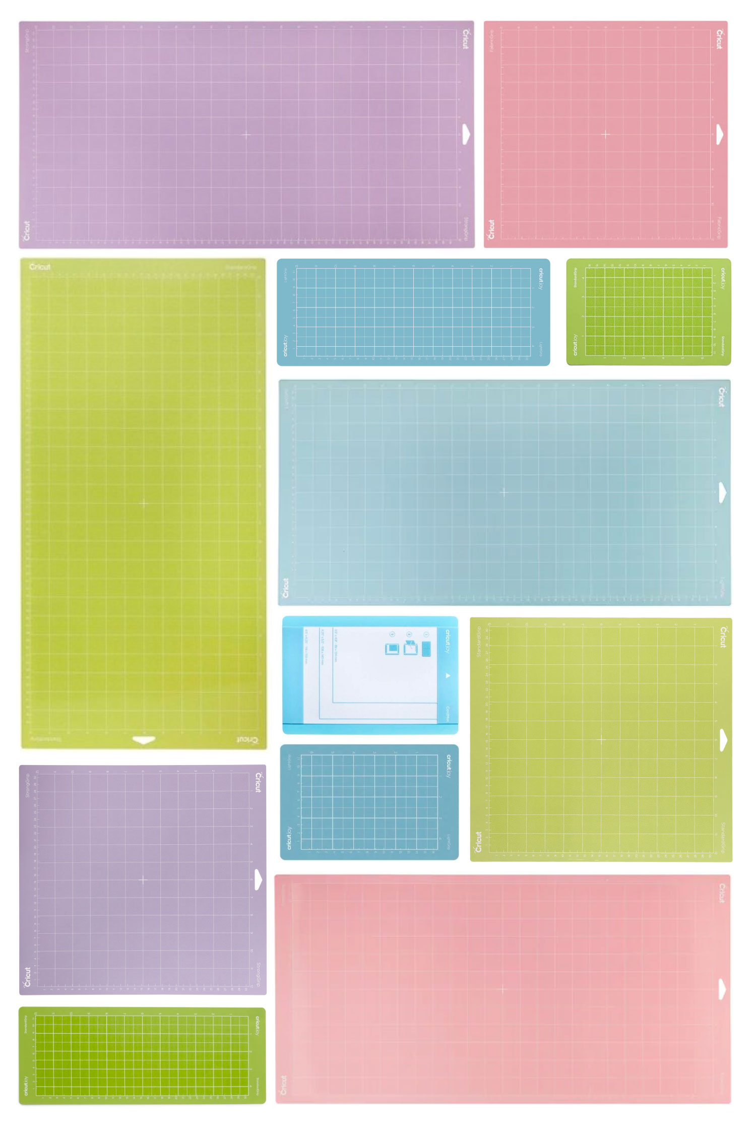 Collage of Cricut Mats