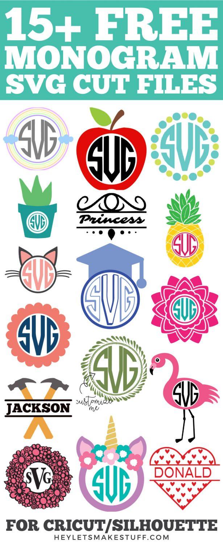 15+ Free Monogram SVG Cut Files pin image