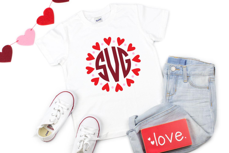 Heart Monogram SVG image