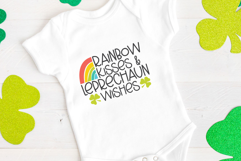 Rainbow Kisses & Leprechaun Wishes SVG file