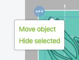 Cricut Design Space: Move Object command