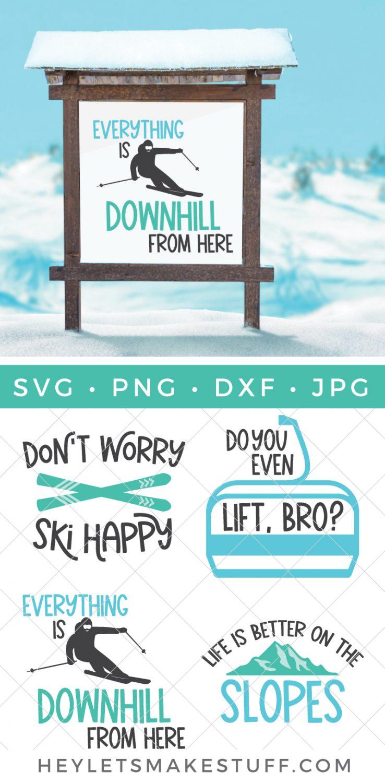 Skiing SVG Bundle pin image