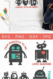 Robot SVG bundle pin image